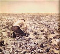 Robbe-Grillet Cleansing Every Object in Sight - Mark Tansey