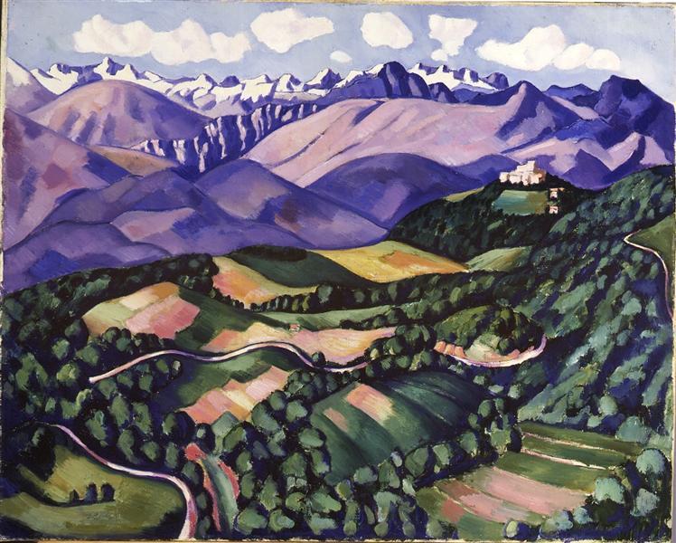 Purple Mountains, Vence, 1926 - Marsden Hartley