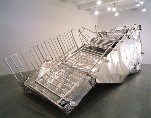 Transportable Subway Entrance (Crushed), 1997 - Martin Kippenberger
