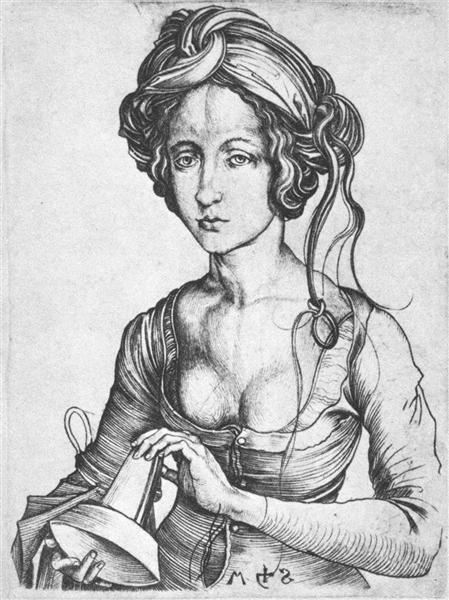 A Foolish Virgin, c.1480 - Martin Schongauer
