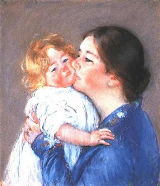 A Kiss for Baby Anne (no.2), 1896 - 1897 - Mary Cassatt