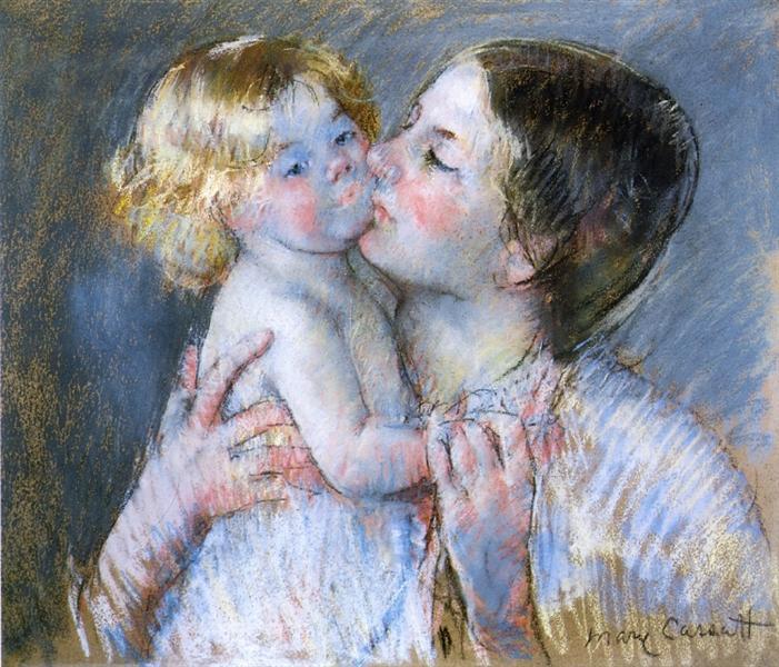 A Kiss for Baby Anne (no. 3), 1897 - Mary Cassatt