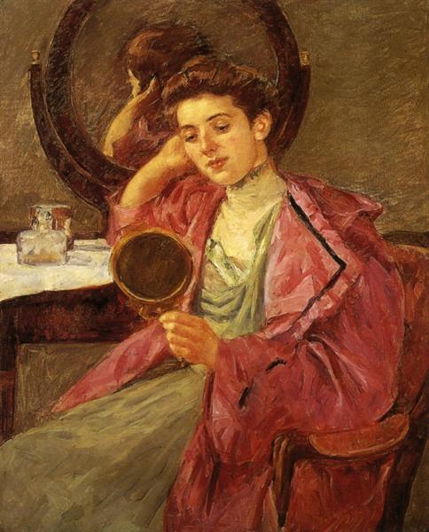 Antoinette at her dresser, 1909 - Mary Cassatt