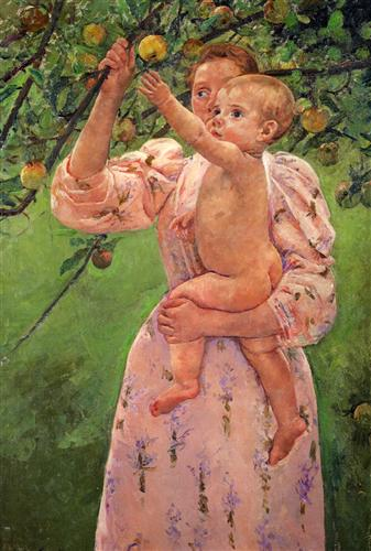 Baby Reaching For An Apple - Mary Cassatt
