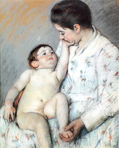 Baby`s First Cess - Mary Cassatt