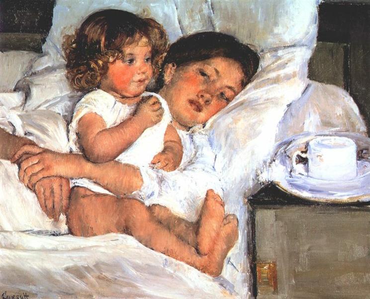 Breakfast in Bed, 1897 - Mary Cassatt