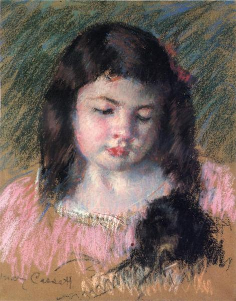 Bust of Francoise Looking Down, c.1908 - Mary Cassatt