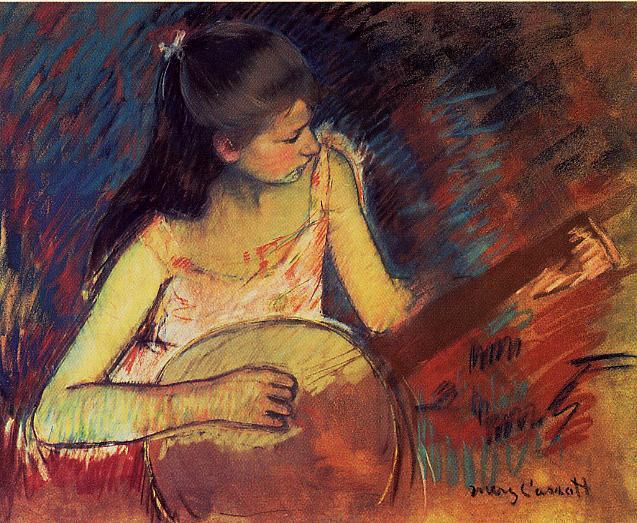 Girl with a Banjo, 1893 - 1894 - Mary Cassatt