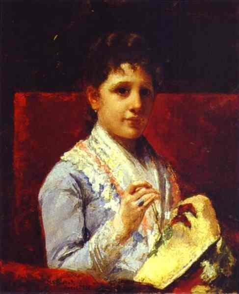 Mary Ellison Embroidering, 1877 - Mary Cassatt