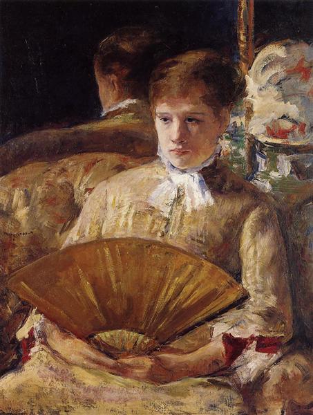 Портрет дамы (Мисс М. Элиссон), 1877 - Мэри Кассат