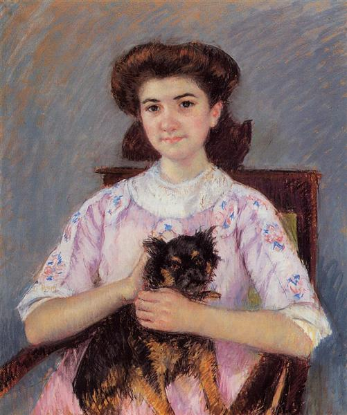 Portrait of Mie Louise Durand Ruel, 1911 - Mary Cassatt