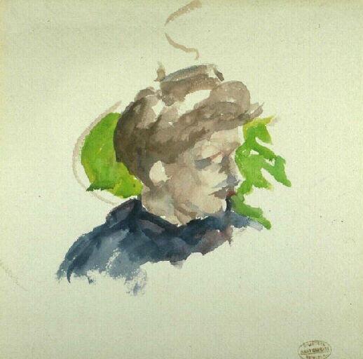 Portraitof younggirl - Mary Cassatt