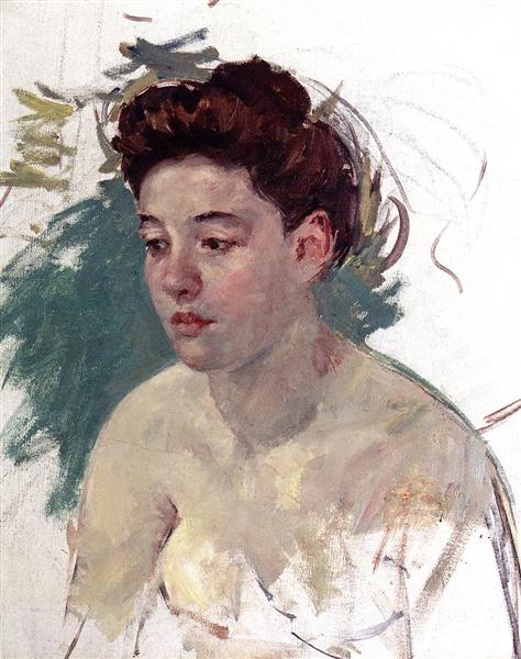 Sketch of Antoinette (no.1), 1901 - Mary Cassatt