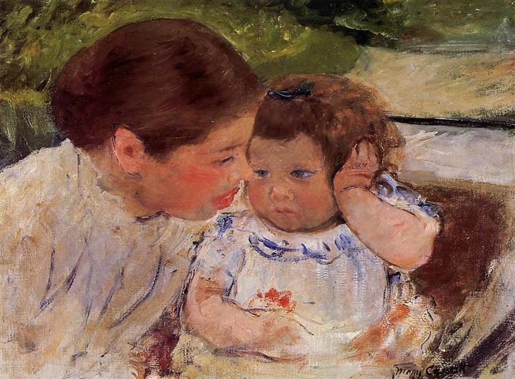 Susan Comforting the Baby (no.1), c.1881 - Мері Кассат