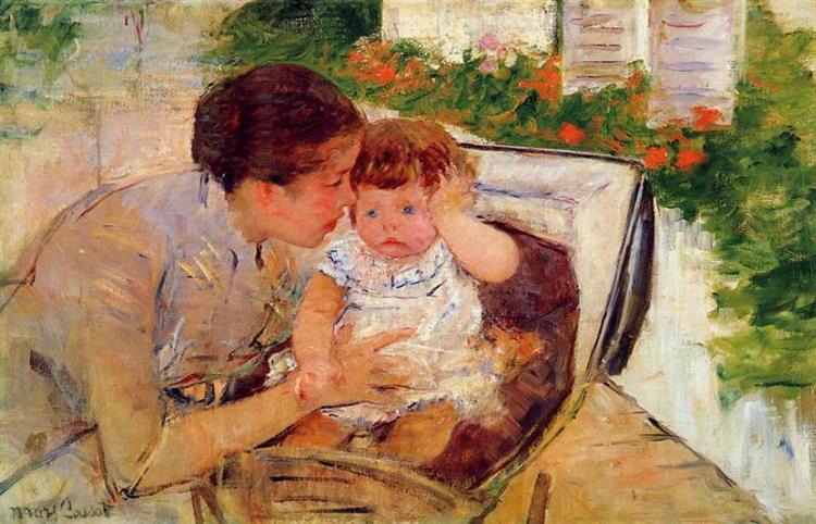Susan Comforting the Baby (no.2), c.1881 - Mary Cassatt