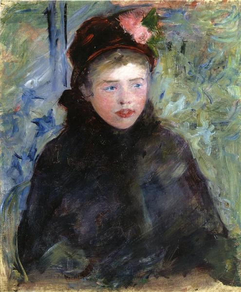Susan in a Toque Trimmed with Two Roses, c.1881 - Mary Cassatt