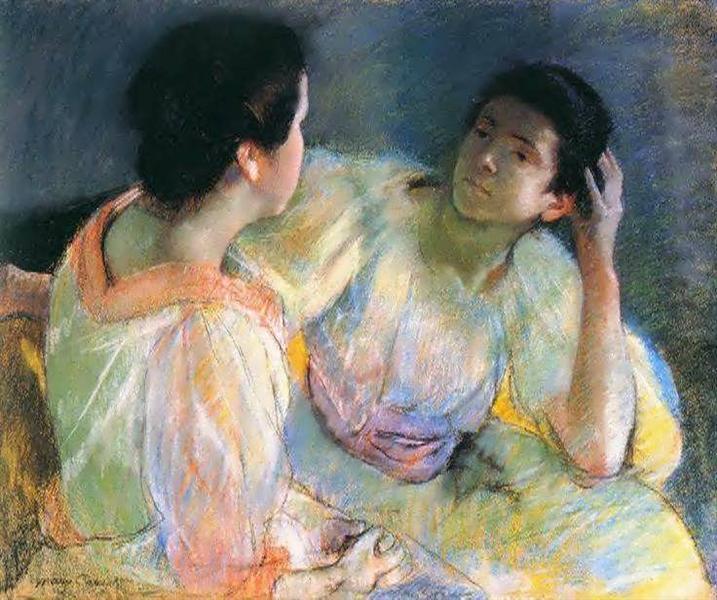 The Conversation, 1896 - Mary Cassatt