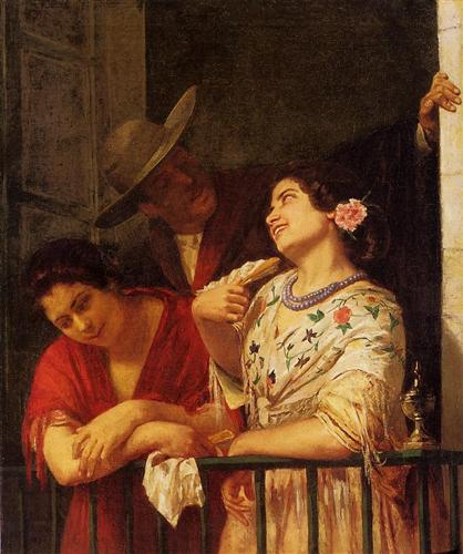The Flirtation A Balcony in Seville - Mary Cassatt