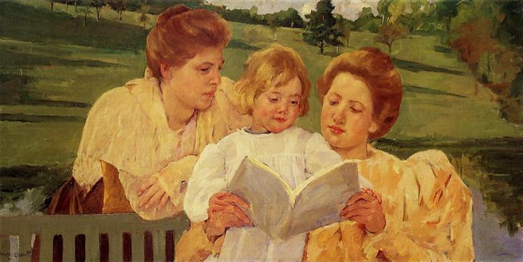 The Gden Reading, 1898 - Mary Cassatt