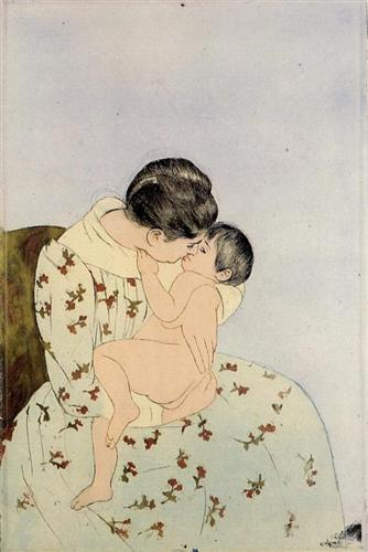 The Kiss - Mary Cassatt
