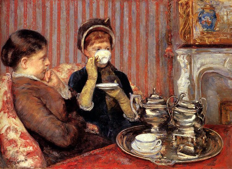 The Tea, 1879 - 1880 - Mary Cassatt