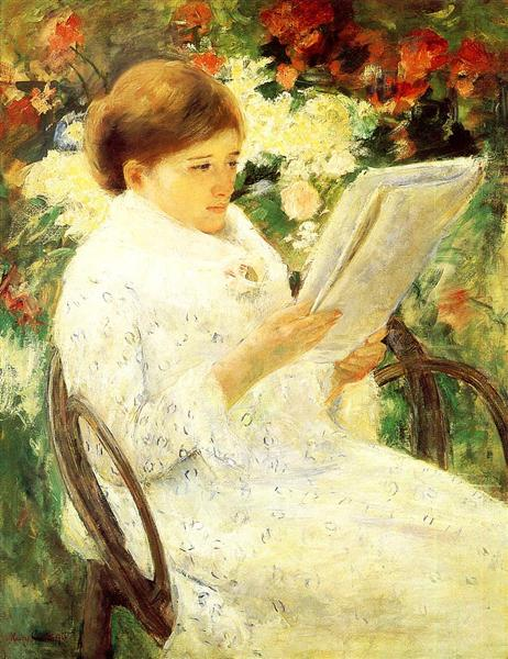 Woman Reading in a Garden, 1880 - Mary Cassatt