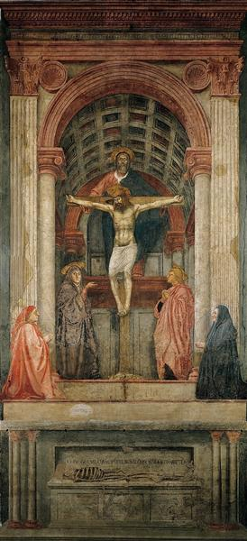 The Holy Trinity, 1427 - 1428 - Masaccio