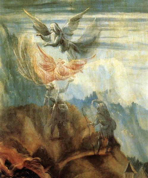 Annunciation to the Shepherds (detail from the Annunciation from the Isenheim Altarpiece), c.1512 - c.1516 - Matthias Grünewald