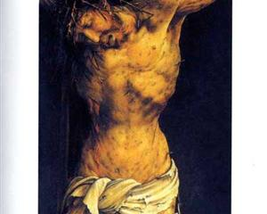 Christ on the Cross (detail from the central Crucifixion panel of the Isenheim Altarpiece) - Matthias Grünewald
