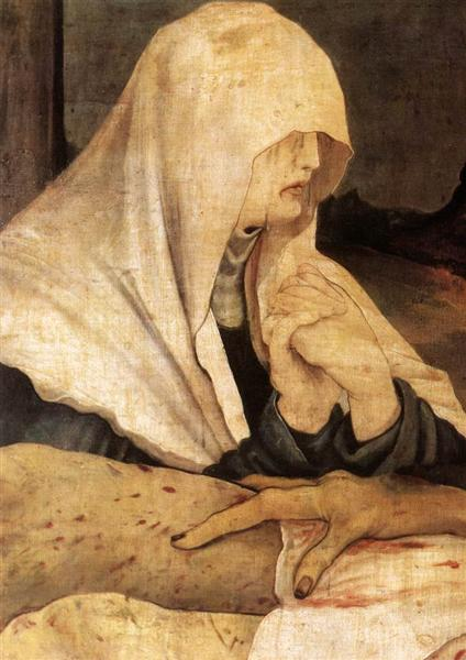 Entombment (detail from The bottom of The first view of the Isenheim Altar), 1510 - 1515 - Matthias Grünewald