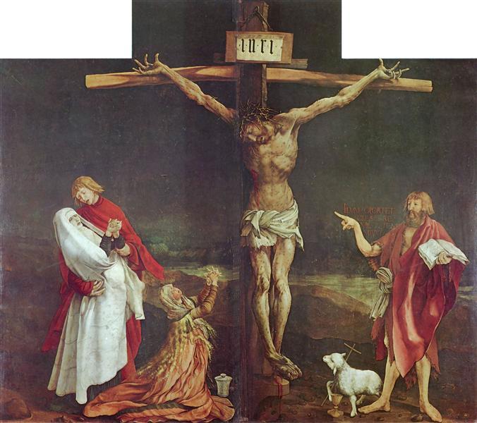 The Crucifixion (detail from the Isenheim Altarpiece), c.1512 - c.1515 - Matthias Grünewald