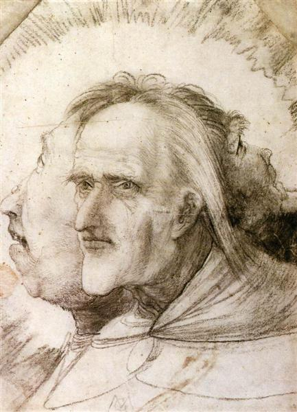 The Triple Face, c.1525 - Matthias Grünewald