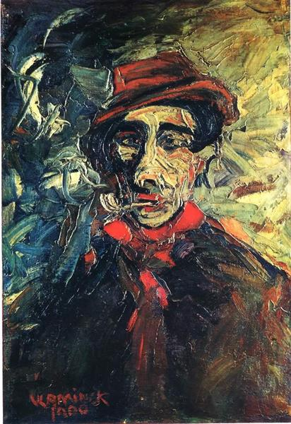 Man Smoking a Pipe - Maurice de Vlaminck
