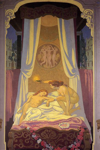 Psyche Discovers That Her Secret Lover Is Cupid, 1908 - Maurice Denis