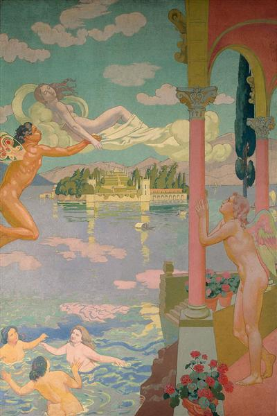 Panel 2. Zephyr Transporting Psyche to the Island of Delight, 1908 - Maurice Denis