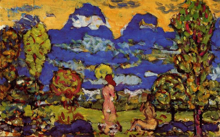 Blue Mountains, c.1914 - c.1915 - Maurice Prendergast
