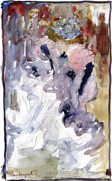 Can Can Dancer - Maurice Prendergast
