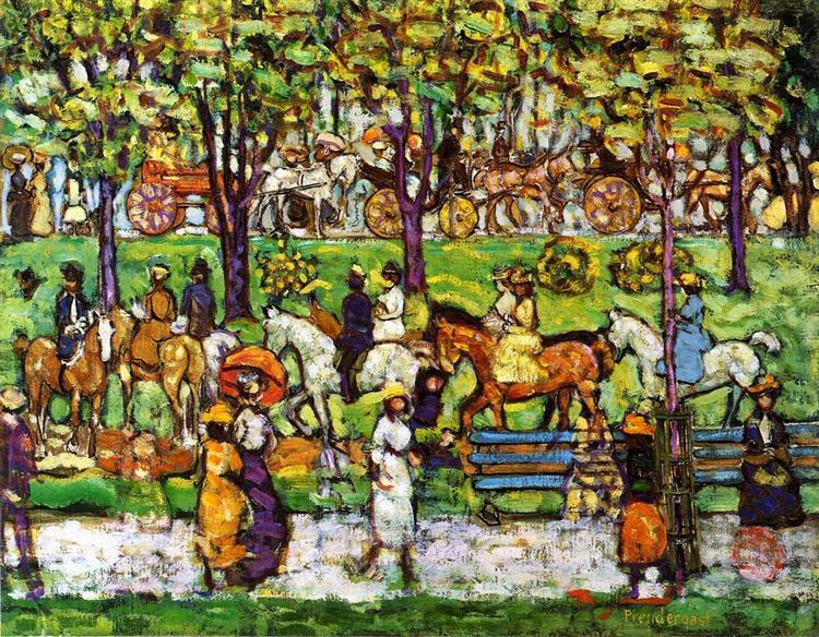 Central Park, c.1914 - c.1915 - Морис Прендергаст