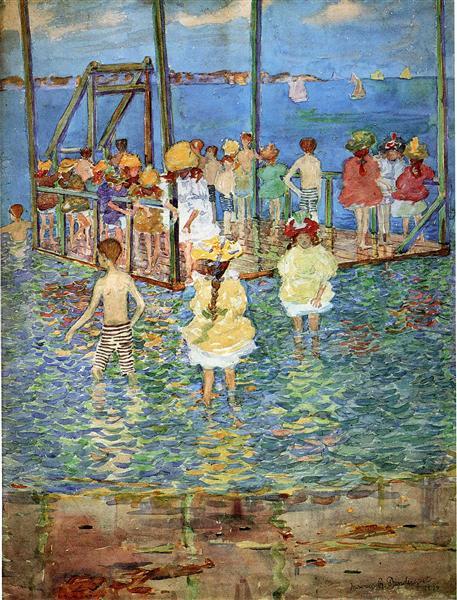 Niños en una balsa - Maurice Prendergast