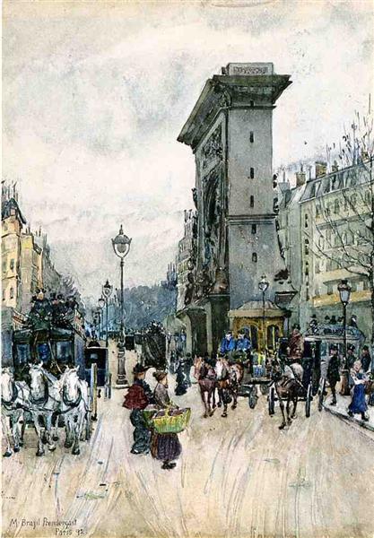 La Porte San Denis - Maurice Prendergast