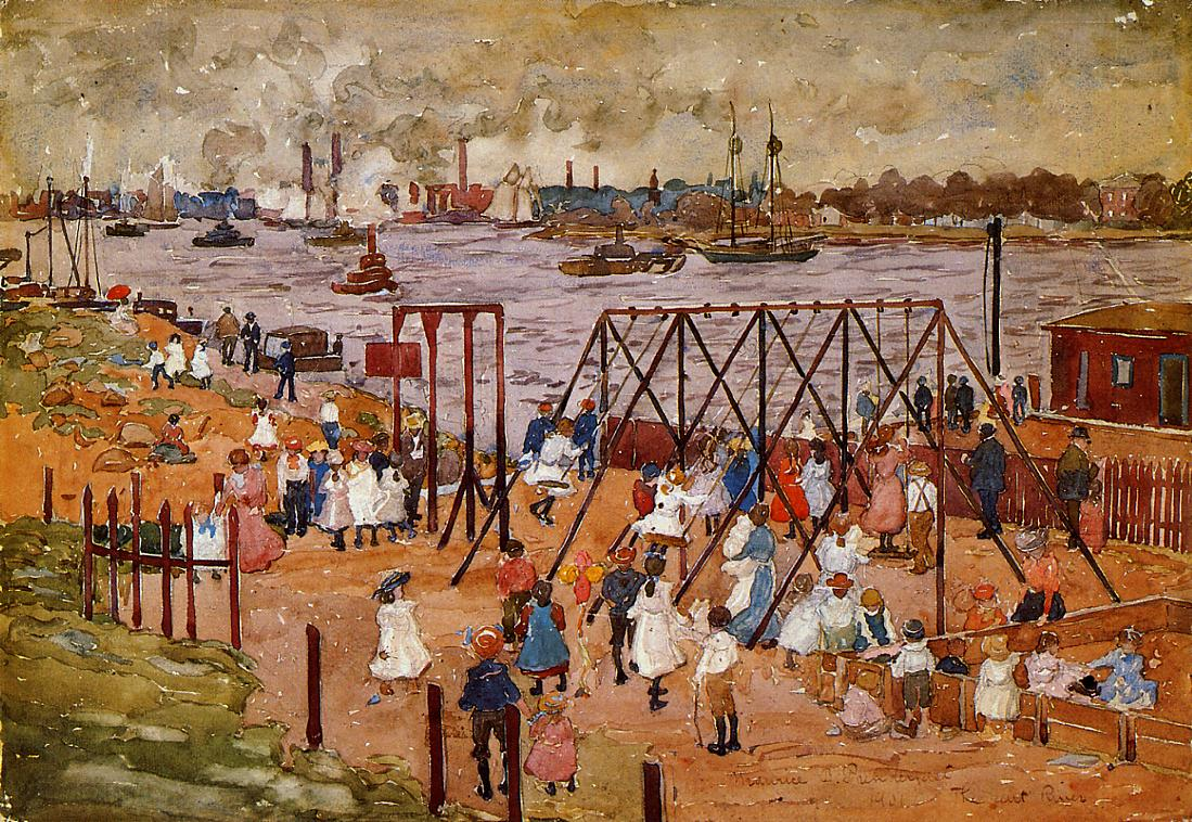 Maurice Prendergast-The East River