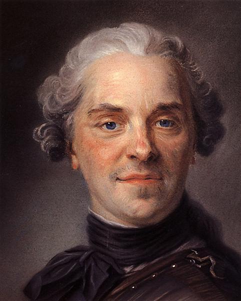 Portrait of Maurice of Saxony, 1747 - Quentin de La Tour