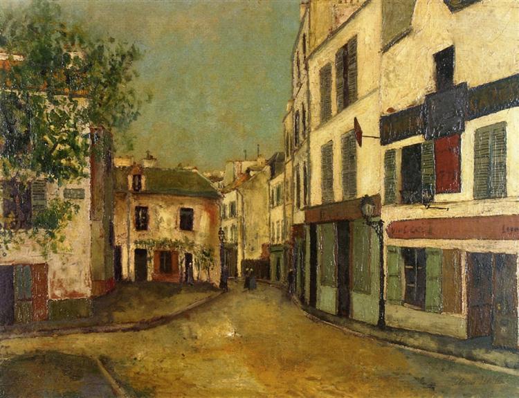 Square Tertre on Montmartre - Maurice Utrillo