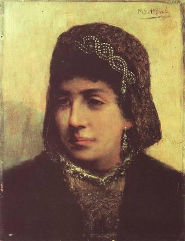 Head of a Jewish Bride, 1876 - Maurycy Gottlieb