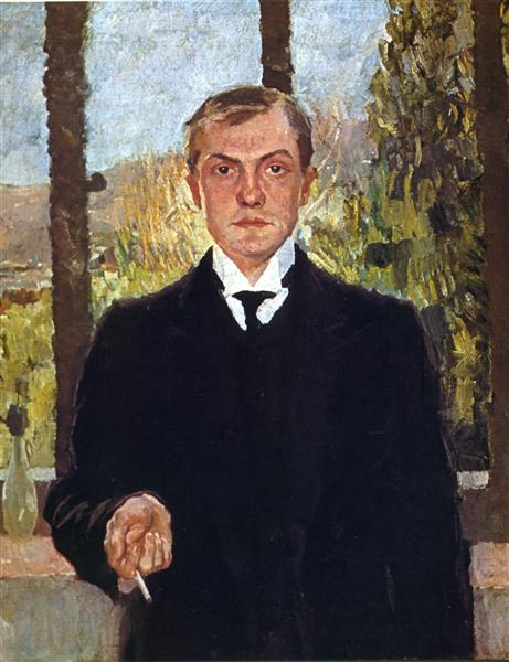 Self-Portrait in Florence, 1907 - Max Beckmann