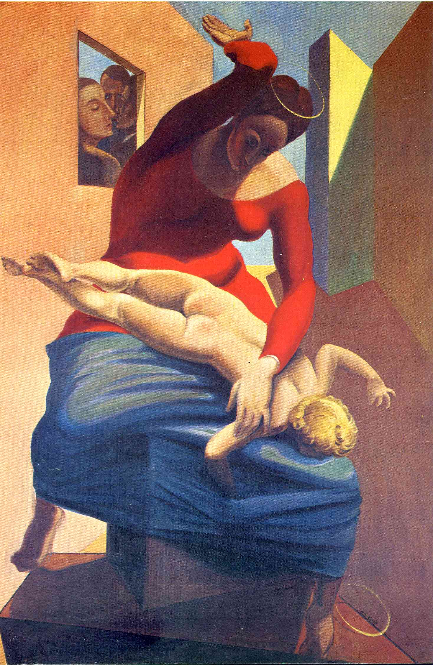 Max Ernst: The Virgin Spanking the Christ Child Before Three Witnesses: Andre Breton, Paul Eluard, and the Painter (1926)