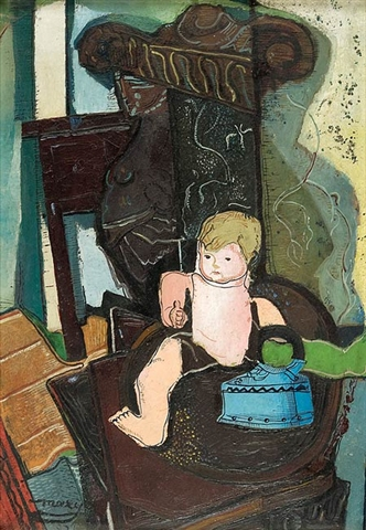 Still Life with a Celluloid Doll and Iron, 1926 - M. H. Maxy