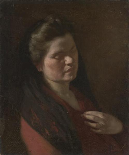 The artist's wife, 1916 - Max Meldrum