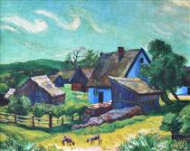 Farmhouses in the Morning - Max Pechstein