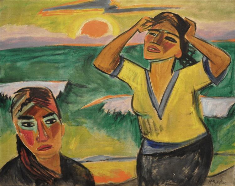 Sunset, 1921 - Max Pechstein